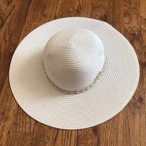 White Beach Hat